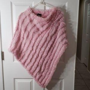 Pink rabbit poncho